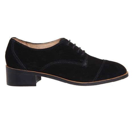 black lace flats shoes office duke suede lace up flats in black lyst