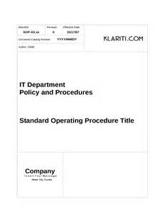 Procedure Templates Free by Sop Template 6 Free Templates In Pdf Word Excel