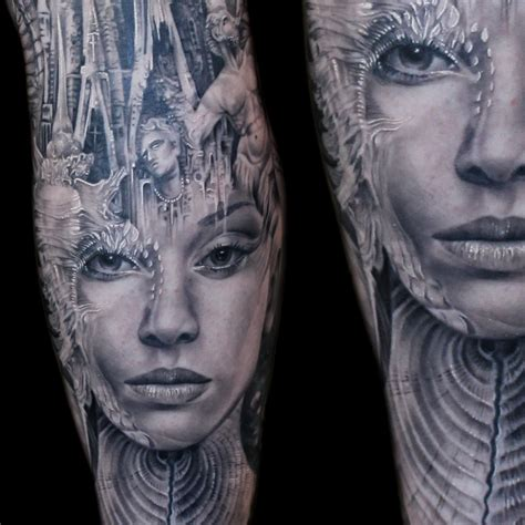 tattoo tony atlantis closeup blackandgrey morph tattoos