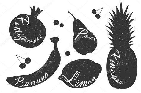 fruta blanco y negro fotos de archivo imagen 18950683 rotulaci 243 n sobre las frutas ilustraciones blanco y negro