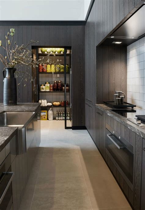 Black Kitchen Pantry by Modern Pantry Ideas That Are Stylish And Practical