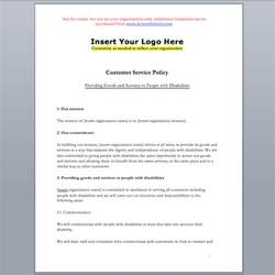 it access policy template customer service standard policy template accessibility