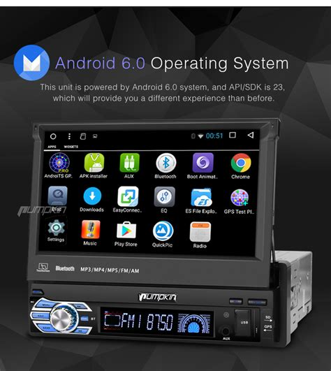 android car stereo 7 quot android 6 0 single din car radio stereo gps obd2 3g wifi dab subwoofer bt usb ebay