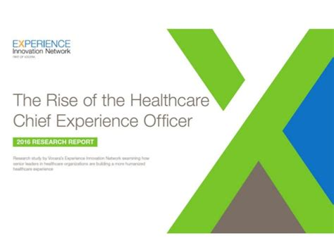 Chief Experience Officer by The Rise Of The Healthcare Chief Experience Officer