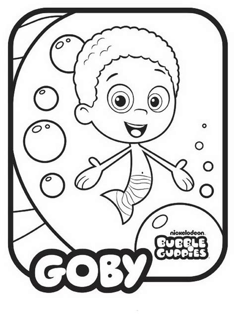 Bubble Guppies Coloring Pages Best Coloring Pages For Kids Guppies Colouring Pages