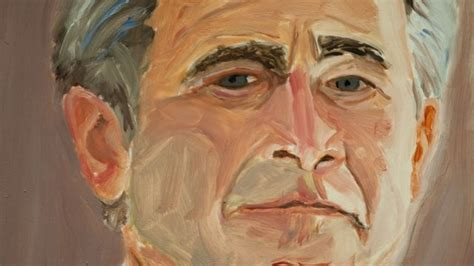 george w bush bathtub painting why does george w bush paint and why do we look big