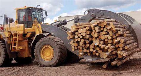 logging sawmilling journal september  volvo wheel loaders  helping  weyerhaeuser
