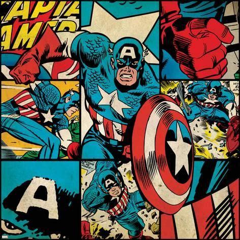 imagenes retro super heroes marvel comics retro badge featuring captain america