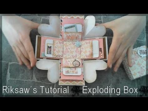explosion box tutorial for girlfriend diy tutorial 1 exploding box with english sub youtube