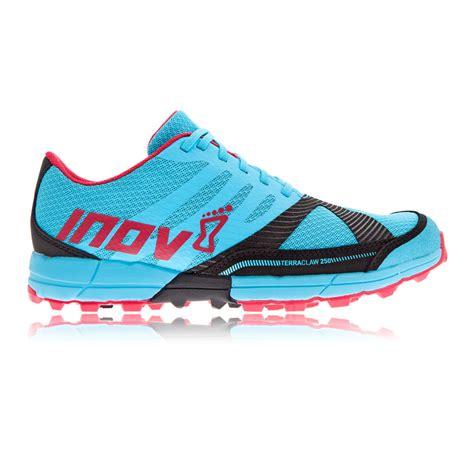 womens cushioned running shoes inov8 terraclaw 250 womens cushioned trail running sports