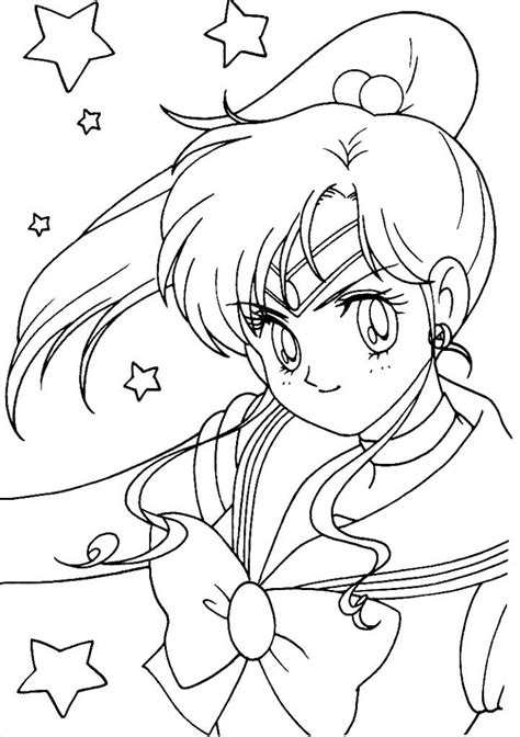 sailor jupiter coloring page coloring pages pinterest