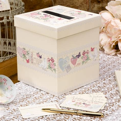 Wedding Wishes Card Box by With Wedding Wishes Box Uk Wedding Favours