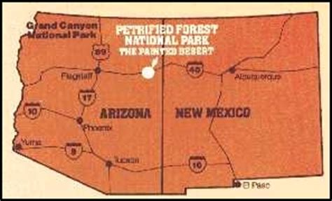 painted desert map petrified forest national park