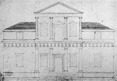 Monticello Floor Plan File Monticello Original Front Elevation Drawing 1771 Jpeg