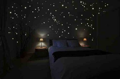 glow in the dark bedroom decor diy star scape for the kids room do it yourself fun ideas