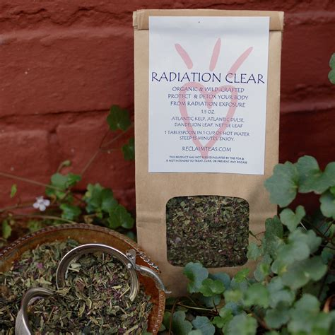 Anthony Williams How To Detox From Mamogram Radiation by Radiation Clear 2oz Bag Reclaim Teas