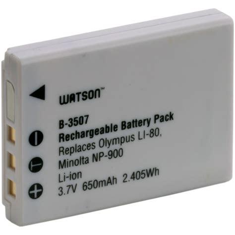 Olympus Battery Li 80b 650mah watson li 80b np 900 lithium ion battery pack b 3507 b h