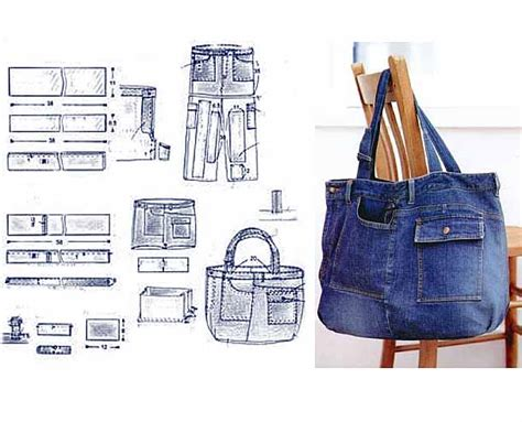 pattern for a blue jean purse recycled jeans bags patterns pinteres