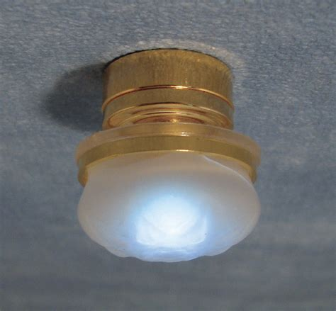 large battery frosted ceiling light
