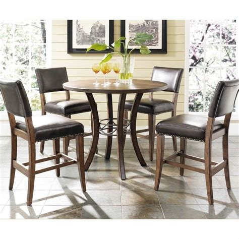 Hillsdale Cameron 5 Pc Counter Height Round Pub Set w
