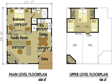 Cabin Floor Plans Loft Small Cabin Floor Plan Designs