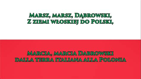 anthem testo inno nazionale polacco anthem of poland pl it testo