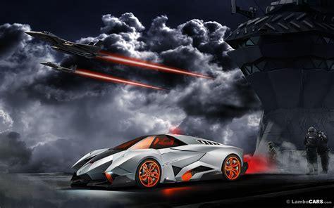 Silver and Black Lamborghini Huracan, Lamborghini Egoista