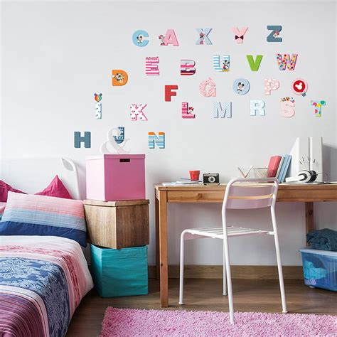 letter wall decals for rooms colorful mickey 26 letters alphabet wall stickers for myuala