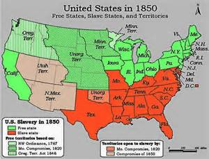 Map Of Slave States by Compromise Of 1850 Slavery Fugitive Slave Law Compromise Map