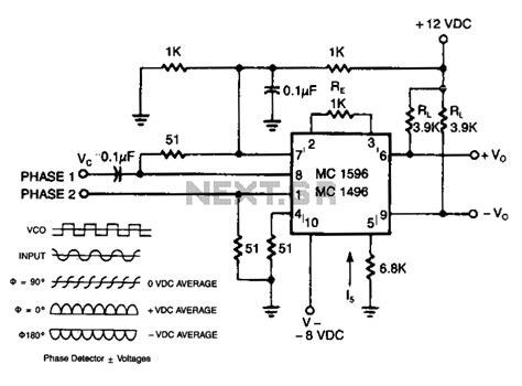 phase detector circuit diagram gt sens detectors gt various circuits gt phase detector