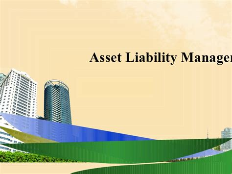 Mba Asset Management by Asset Liability Management Ppt Bec Doms Bagalkot Mba Finance