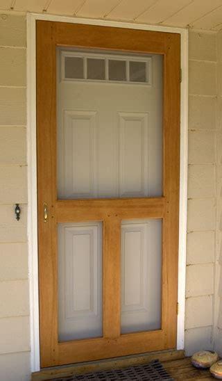 woodwork wood screen door plans  plans