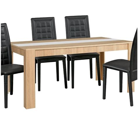mesas de comedor conforama mesa de comedor nicole roble sonoma conforama