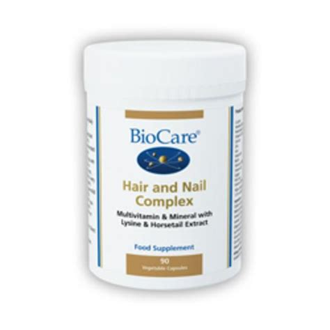 hair and nail supplement hair and nail nutrient supplement in 90vegcaps from biocare