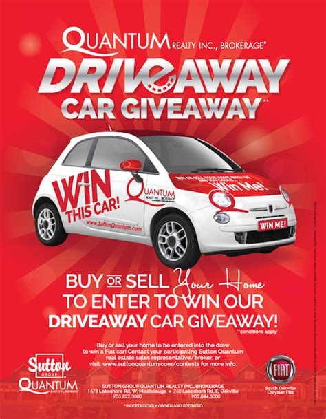 Car Dealership Giveaways - 2016 car giveaway sutton quantum mississauga and oakville real estate