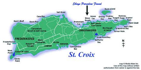 st croix map caribbean location shoys paradise found on st croix