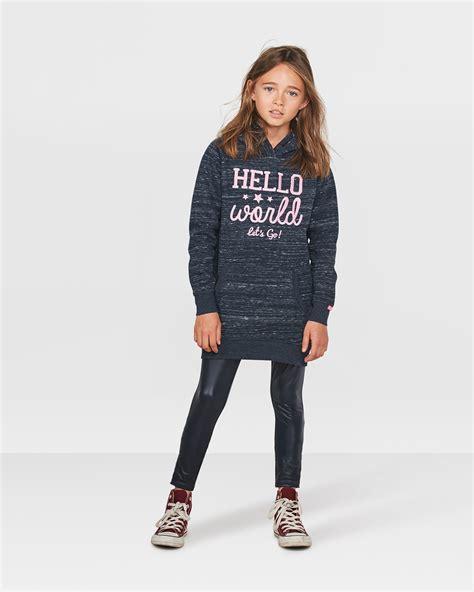 Teddy Sweater meisjes teddy hooded sweater jurk 80008064 we fashion