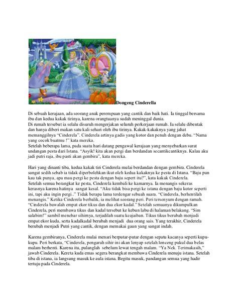 cerita kancil dan buaya dalam bahasa inggris beserta dongeng cinderella