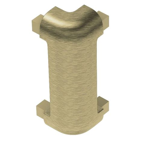 Metal Depot 4934 by Schluter Rondec Ct Brushed Brass Anodized Aluminum 3 8 In