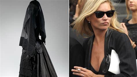 funeral fashion  evolution  mourning attire