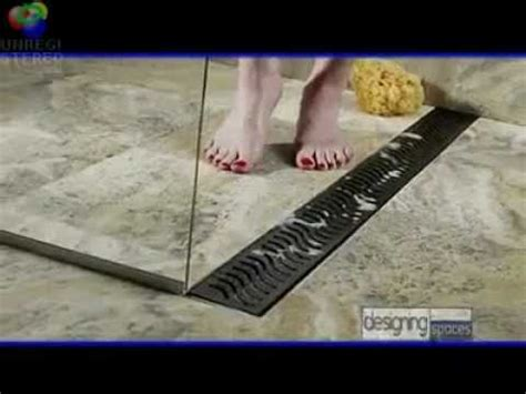 Bathroom Layout Designer by Linear Shower Drains Designing Spaces Youtube