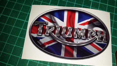 triumph boat decals triumph union jack tank decals stickers x4 triple daytona