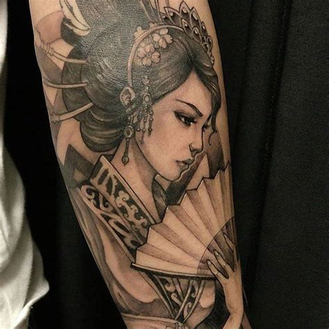 geisha tattoo for men geisha for sleeve background cherry