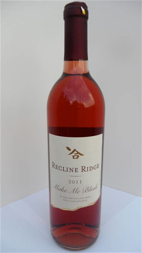 recline ridge winery make me blush 2011 recline ridge winery