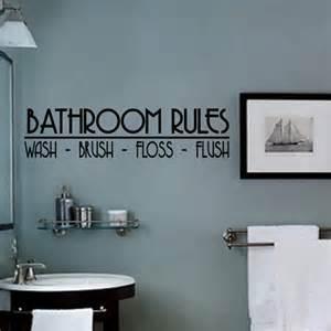 bathroom vinyl wall decal wash brush floss flush