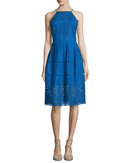 Hem Varina alana embroidered eyelet dress glacius neiman