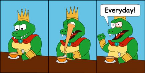 king k rool figure king k rool s mornings by t 3000 on deviantart