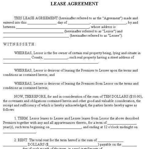printable lease agreement rental property printable sle rental lease agreement templates free
