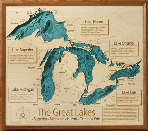 the great lakes map great lakes 3d depth map shorters