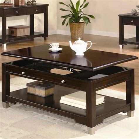 rich brown coffee table coffee tables